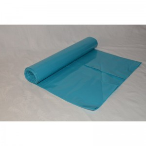 Odpadový pytel 120L 700X1100, 50mi, modrá, LDPE, 25ks/role