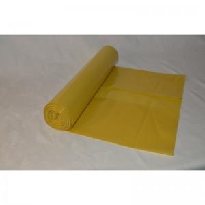 Odpadový pytel 120L 700X1100, 50mi, žlutá, LDPE, 25ks/role