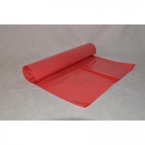Odpadový pytel 120L 700X1100, 50mi, červený, LDPE, 25ks/role