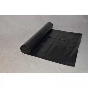 Odpadový pytel 120L 700X1100, 60mi, černý, LDPE, 20ks/role