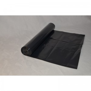 Odpadový pytel 120L 700X1100, 80mi, černý, LDPE, 15ks/role