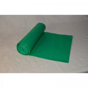 Odpadový pytel 120L 700X1100, 80mi, zelený, LDPE, 15ks/role