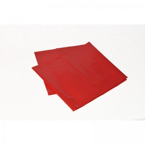 Odpadový pytel 120L 700X1100, 100mi, červený, LDPE, 10ks/role