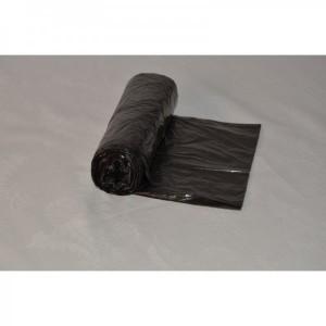 Sáček do koše 30L 500x600, 6mi, černý, HDPE, 50ks/role
