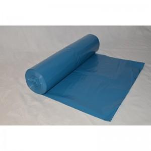 Odpadový pytel ZATAHOVACÍ 120L 700x1000, Typ 60, modrý, LDPE, 25ks/role