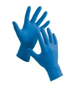 Rukavice Nitrilové modré L bez pr. 100ks/bal