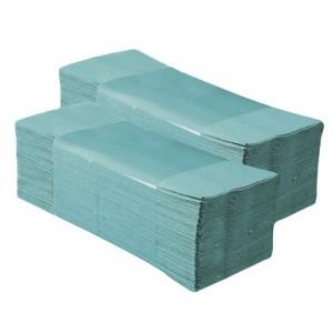 Papírové ručníky ZZ, zelené, 1-vrstvé, 5 000ks/bal
